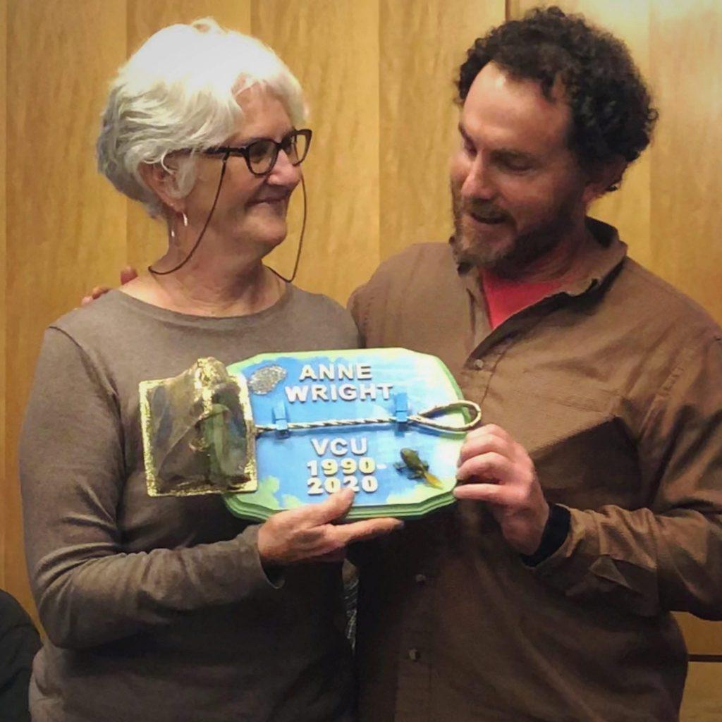Anne Wright retires, received the Golden Dip-net Award