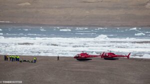 Beechey Island with access by helicopter